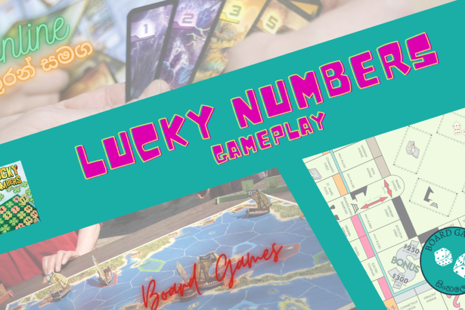 Lucky Numbers Board Game Play and Strategy Sinhala
